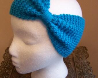 Hand Knit Aqua Ear Warmer