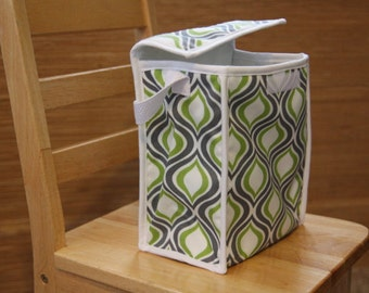 Reusable Lunch Bag - Green and Grey