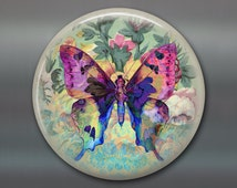 """3.5"""" butterfly refrigerator magnet butterfly decor, cottage chic spring decor, kitchen decor, large magnet stocking stuffer MA-365"""