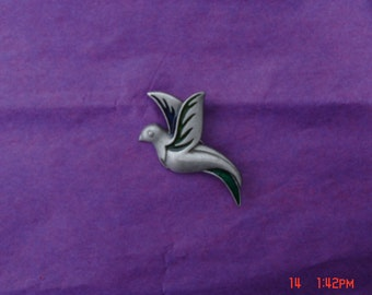 Vintage Pewter Bird Brooch / Pin by L Razza - Lovely