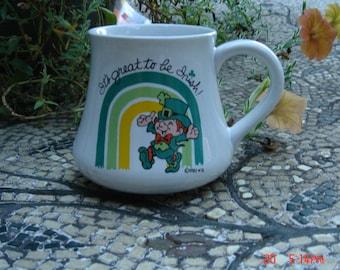 Vintage Wallace Berry Ceramic Mug - It's Great to be Irish - 1982