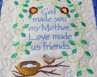 Mother's Wall Hanging, Poem for Mother, Mothers Day