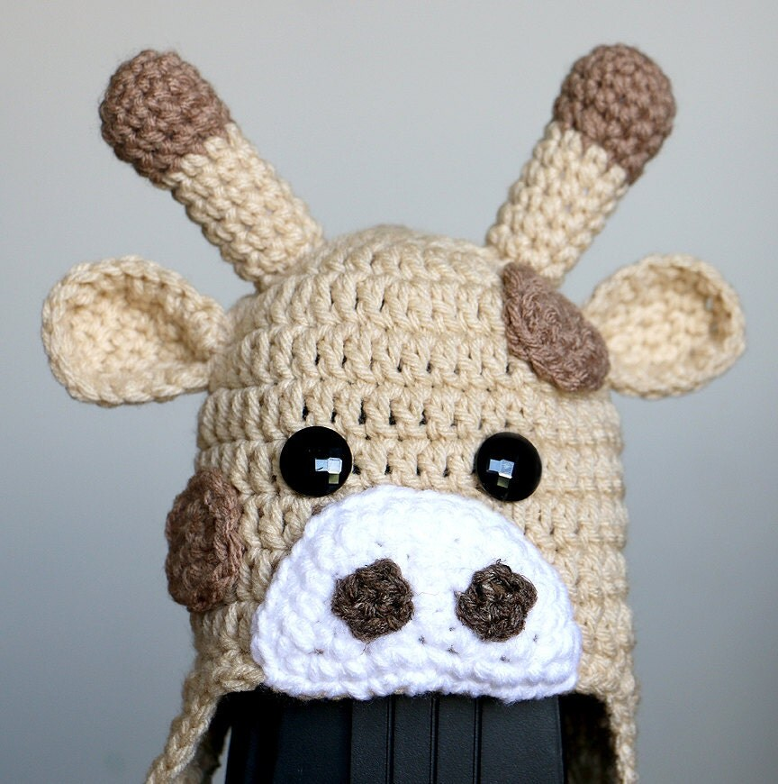 Free Crochet Pattern Giraffe Hat : Crochet Giraffe Hat Baby Giraffe Hat Toddler Child by dsgnGrl