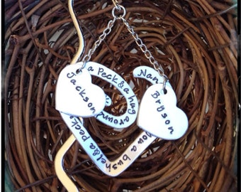 Personalized Hand Stamped Bookmark