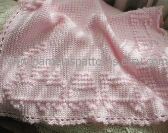 Crochet Train Around the Blanket Pattern Baby Afghan Train Gift Unisex Boy or Girl Choo Choo Train Theme