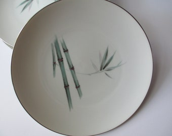 Vintage Sango Bamboo Dinner Plates Set of Five