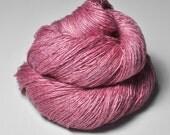 Spilled raspberry smoothie - Tussah Silk Lace Yarn