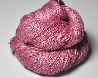 Spilled raspberry smoothie - Tussah Silk Lace Yarn