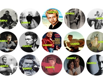 JAMES DEAN Digital Collage Sheet 1 inch circles 4x6 (A2)