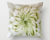 Throw Pillow Cover, Floral Ivory Cushion Case, Chrysanthemum Bedroom Accent, Victorian Decor, French Cottage Chic, Mother's Day Present