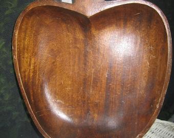 Wooden bowl, Apple bowl, Apple, Bowl, 70s,