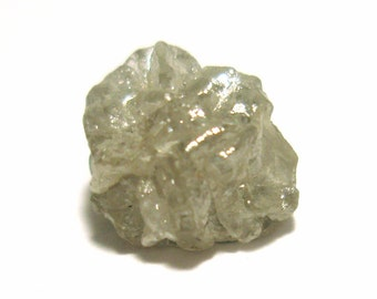 1.80 Carat Diamond Rough Loose Stone Gray Color Sparkling Natural Uncut Raw Diamond - Perfect for Precious Metal Clay