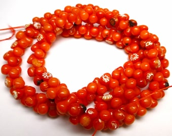 8x4 Coral Beads Round Smooth Natural Bright Deep REd 16 Inch Full Strand Stringing Beading Lovely Color Nauticle Beach Summer Wedding