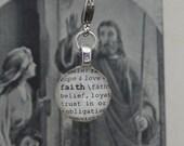 Faith Dictionary Word Clip-on Charm by Kristin Victoria Designs