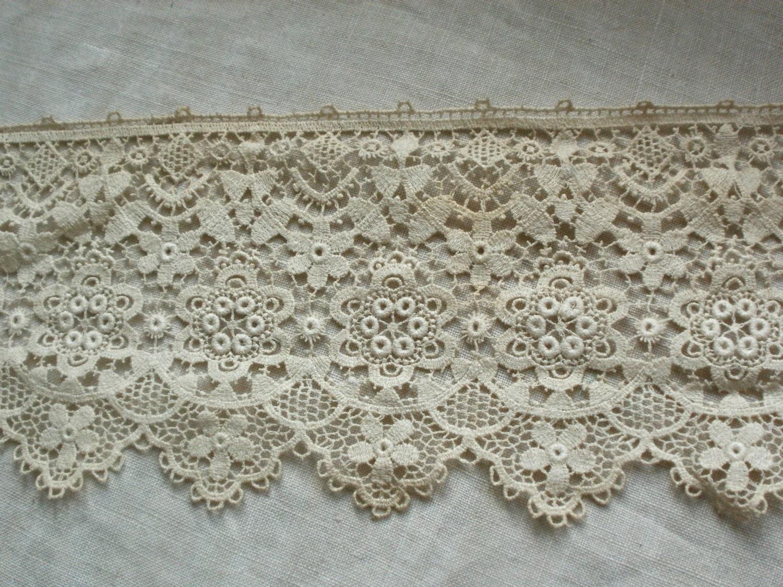 Antique Lace Vintage Schiffli Lace 1 5 Yards Wedding Supplies