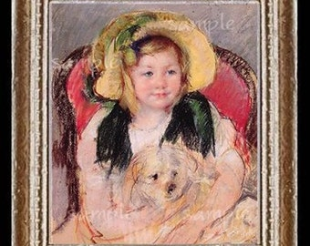 Cassatt Miniature Dollhouse Art Picture 1668