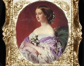 Victorian Lady Miniature Dollhouse Art Picture 6052