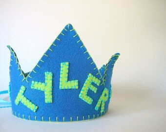 Felt Name Crown, Any Color You Choose
