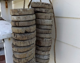 Antique Vintage Cork Floats Buoy Fishing Bouy Lot of 5