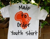 Custom Love Africa Youth Shirt - Just For You - The Smiling Heart