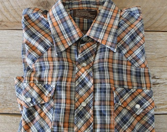 Vintage JC Penny's Western Shirt, Perfect for Father's Day!