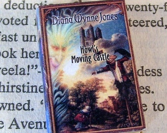 Miniature Classic Novels Book Necklace Charm Howl's Moving Castle