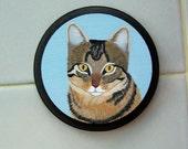 Example of a Custom Pet Portrait Magnet