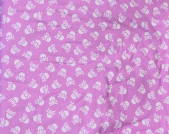 Flannel pants pajama dorm lounge made to order your choice size XS - 2X skulls on pink print