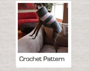 PDF Crochet Pattern for Small Breed Dog Sweater and Snood