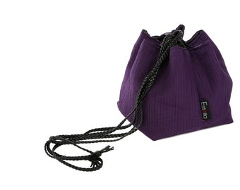 Vegan handbag purple lightweight evening bag in small size - Japanese bag