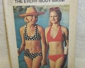 Simplicity Pattern 6353 - The Every-Body Bikini - Size 12-14 Medium with A, B, C Cups