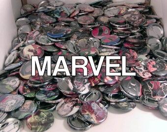 "5 Mixed 1.5"" Comic Book Buttons// Marvel Comics"