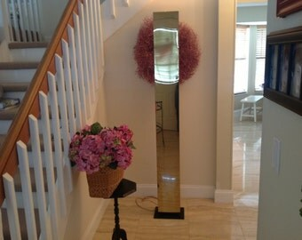 Sold..Tall GIO PONTI STYLE Floor Uplighter / Brass Torchiere Hollywood Regency Brass Uplighter Brass / On Sale at Retro Daisy Girl