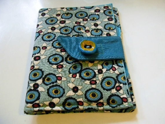 Teal Floral Kindle Touch/Paperwhite Case