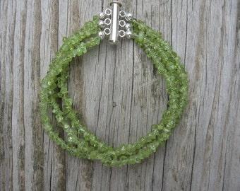 3 Strand Peridot Bracelet