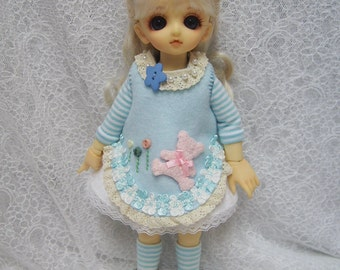 Super Dollfie Yo SD Blue Bear Dress Set