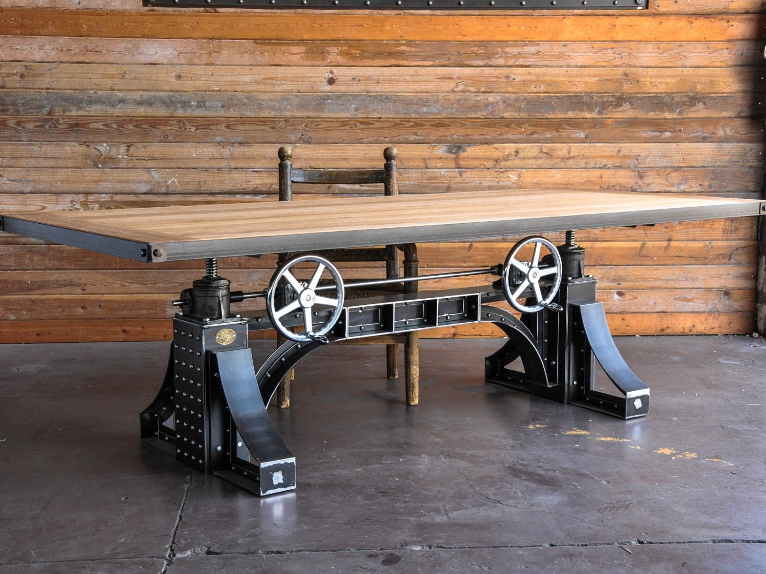 vintage industrial dining table desk by vintageindustrial. Black Bedroom Furniture Sets. Home Design Ideas