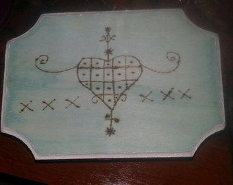 Handmade and Blessed Marie Laveau Voodoo Queen of New Or'lean's Veve Altar Tile