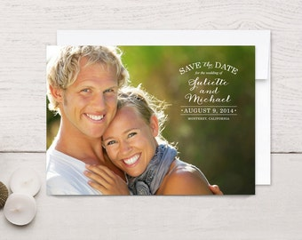 Save the Date Cards Vintage Stamp