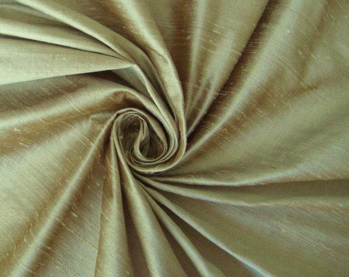 Light Almond not just beige not just ivory 100% Dupioni Silk Fabric Wholesale Roll/ Bolt