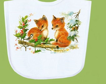 Fox Bib Fox Babies by ChiTownBoutique