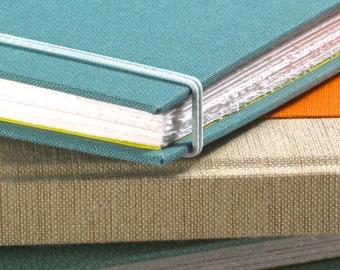 Journal Sketchbook - Linen and Teal Cloth