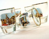 London England Souvenir Shot Glasses - Set of 5