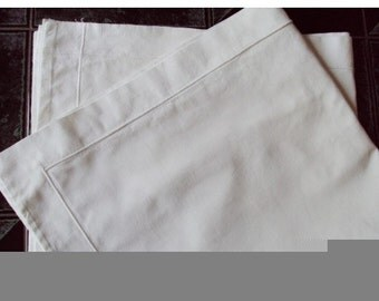 Pair of white euro shams vintage from France