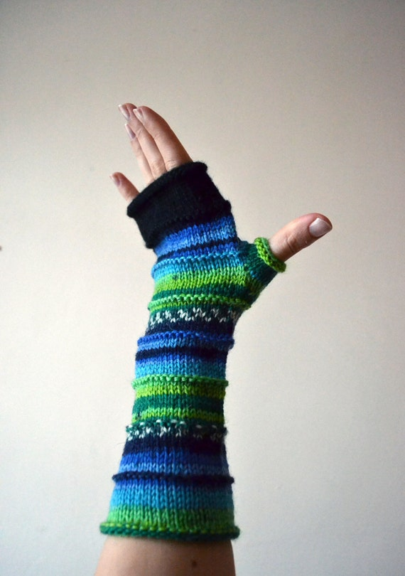 Fingerless Gloves - Apple Green Fingerless Gloves - Neon Colors Gloves - Fashion Gloves - Women Fashion - Gloves for Typing - Gift nO 64.