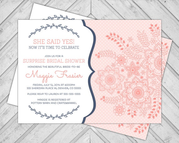 Surprise Bridal Shower Invitations correctly perfect ideas for your invitation layout