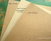 "50 sheets kraft cardstock: 8.5 x 11 kraft brown card stock, recycled and eco-friendly, 8 1/2"" x 11"" (216x 279mm), 65lb, 80lb, 100lb or 105lb"