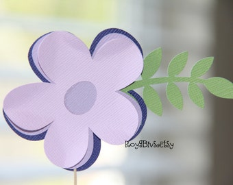 Flower Cupcake Toppers - Spring - Garden Party