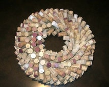 Wine Cork Wreath or Centerpiece - Home or Bar Decor
