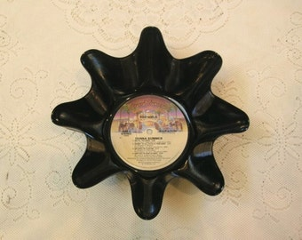 Donna Summer Bad Girls Record Bowl Made From Recycled Vinyl Album